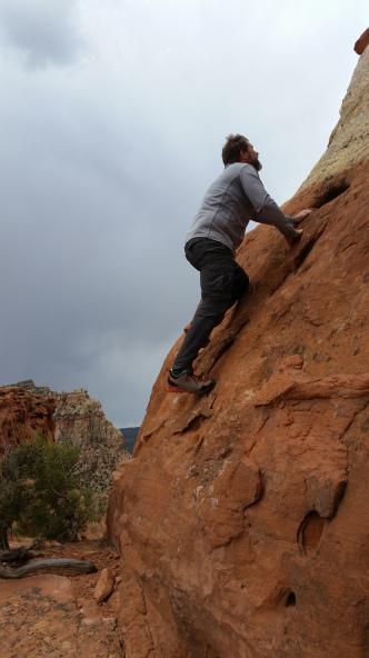 Sean Climbing