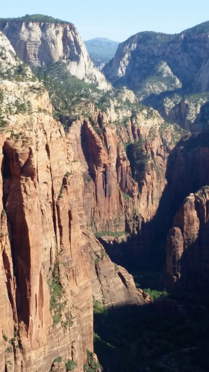 View towards The Narrows from Angels Landing